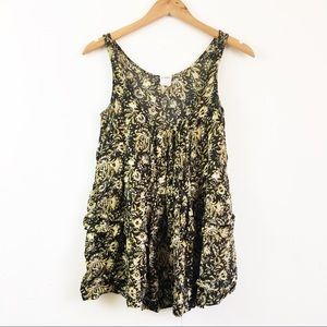 Intimately Free People Ruffled Top Small